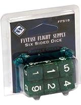Fantasy Flight Supply Six-Sided Dice: Marble Green