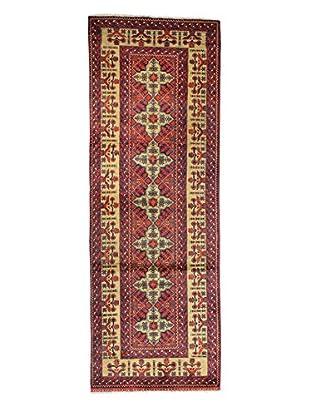 Bashian Rugs Hand-Knotted Afghan Rug, Dark Blue, 3' 3