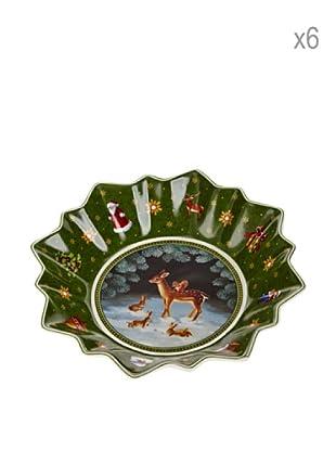 Villeroy & Boch Set 6 Bols Navidad Verde 16,5 cm