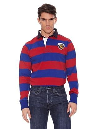 Hackett Polo Casual (Rojo / Azul)