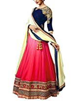 Vibhu Darshan Enterprise Women's Georgette Lehenga Choli(vibhu01_Blue_Free Size)