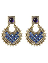 Indian Bollywood Jewelry Royal Blue Crystal Made Fashion Earring For Women Gift Jewelry