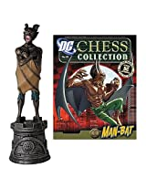 DC Superhero Man-Bat Black Rook Chess Piece with Magazine