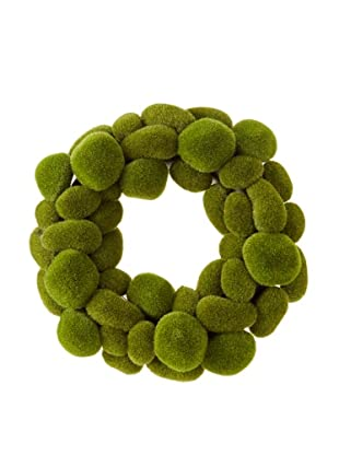 Faux Moss Wreath, Green