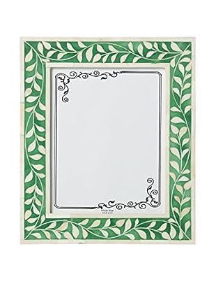Bethel International Bone Inlaid Photo Frame (Dark Green)