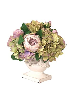 Creative Displays Lavender & Green Hydrangea in White Vase
