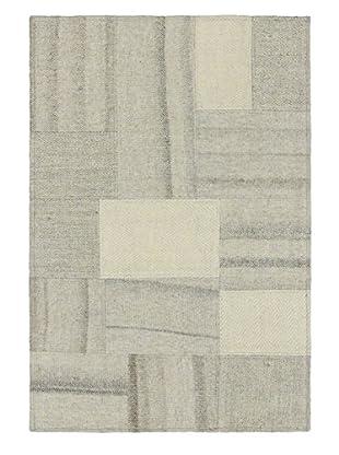 Hand Woven Mosaico Kilim, Cream, 2' x 2' 11