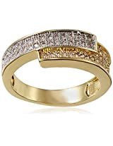 Shaze Ring for Women (Gold) (GS CROSSOVER RING 6448:6)