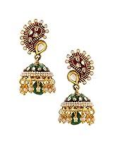 Traditional Indian Handmade Jewelry Set Glowing Jhumki Earring SetBHEA0022MG