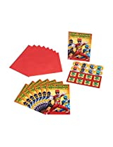 American Greetings Power Rangers Dino Charge Invite Postcards, (8 Count)