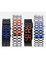 Liroyal Led Digital Lava Iron Style Metal Sports Watch Black and Red led/men AD