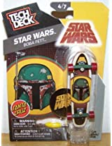 2014 Santa Cruz Tech Deck Star Wars Boba Fett Mini Finger Skateboard #4/7 with Display Stand