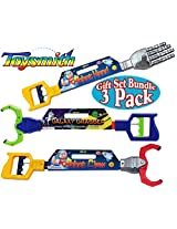 Toysmith Galaxy Grabber, Robot Hand & Robot Claw Gift Set Bundle - 3 Pack
