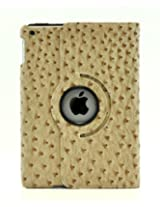 iPad Air 2 Case, LiViTech(TM) Ostrich Design Series 360 Rotating PU Leather Case Smart Cover for Apple iPad Air 2 (A1566) (Light Brown)
