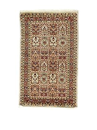 L'Eden del Tappeto Teppich Kashmirian F/Seta braun/mehrfarbig 153t x t94 cm