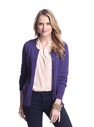 Cashmere Addiction Women's Pocket Cashmere Cardigan (Twilight)