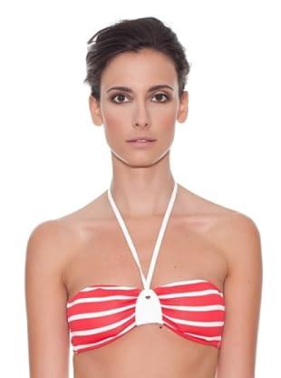 Women secret Bikini Top Stripes Pink (Rojo / Blanco)
