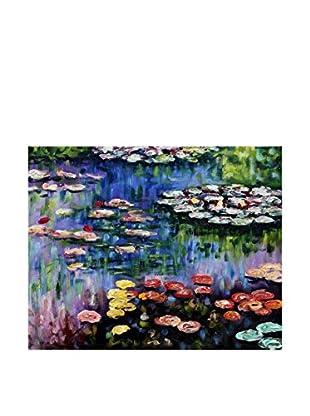 Legendarte Leinwandbild Lo Stagno Con Ninfee di Claude Monet
