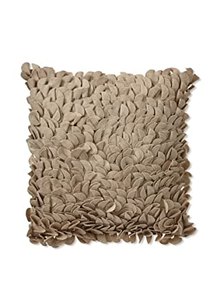 Zalva Noir Beige Decorative Pillow, Taupe, 18