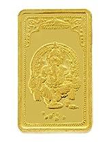 TBZ - The Original 5 gm, 24k(999) Yellow Gold Ganesh Precious Coin