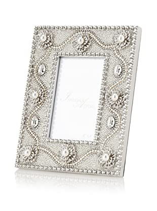 Isabella Adams Freshwater Pearl and Crystal Picture Frame, Silver, 4