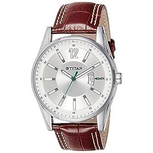 Titan Octane Analog Silver Dial Men's Watch - NE9322SL03J