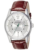 Titan Octane Analog Silver Dial Men's Watch - NE9322SL03J