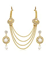 Meenaz Traditional Necklace Sets Jewellery Sets Gold Plated With Earrings For Women,Girls NL108