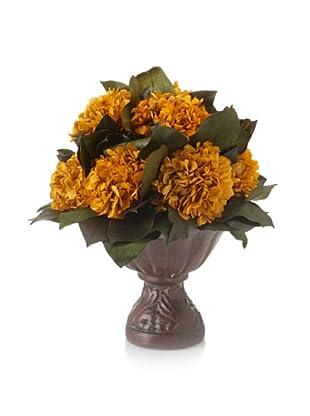 Forever Green Art Gold Hydrangea Vase