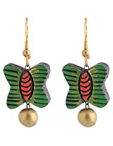 Scorched Earth Scorched Earth Terracotta Everyday wear Terracotta Earrings SEE21a08 Green Ceramic Dangle & Drop For Women