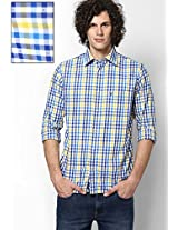 Blue Checks Sport Fit Casual Shirt