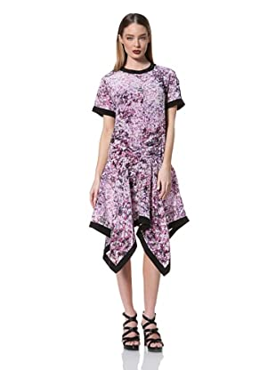Prabal Gurung Women's Tee Dress with Handkerchief Hem (Pixelated Purple)