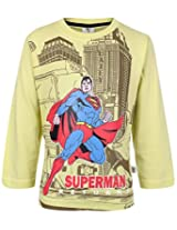 Cucumber Full Sleeves T-Shirt Lemon Yellow - Superman Print
