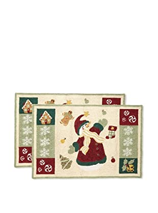 C & F Enterprises Set of 2 Winterland Fun Hooked Rugs