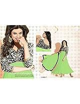 Krazzy2buy gorgeous Sushmita Sen Light Green semi stitched Anarkali Salwar Suit