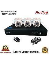 ACTIVE 4CH DVR 3PC NIGHT VISION DOM CCTV CAMERA COMBO