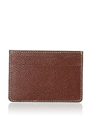 Leone Braconi Men's Saffiano Leather Card Case Wallet