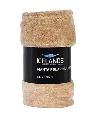 Icelands Manta Microfibra De Viaje 250 Gr (Beige)