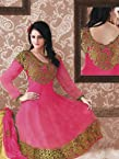 Pink Embroidery Georgette Anarkali :wdv30109