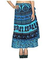 Rajrang Multi Wear Wrap Around Skirt Long Printed Wrap Skirt Open waist