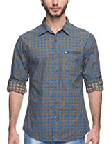SPYKAR Men Cotton Green Casual Shirt (Large)