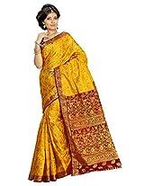 Alankrita Gold X Meroon Color Allover Weaving Jari Design Saree