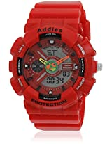 Fs204-Rd02 Red/Black Analog & Digital Watch