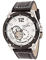 Lancaster Trendy Leather Strap Analogue White Men's Wacth-OLA0383L/BN