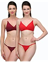 Urbaano Captivating Bikini set - UR7094C - Red & Maroon (36)