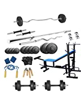 SPORTS HUBB PROTONER HOME GYM WEIGHT LIFTING PACKAGE 38 KGS WITH 6 IN 1 BENCH