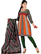 atisundar Smart Orange And White Traditional Cotton Printed Salwar Suit- 4343_39_5054