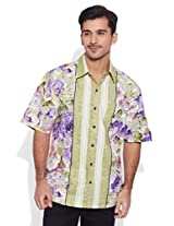 Very Me Purple Shower Men's Cotton Printed Shirt (32)