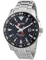 Seiko Analogue Black Dial Men's Wristwatch - SUN015P1