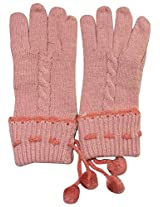 Graceway Unisex Cable Gloves (5G13, Pink)